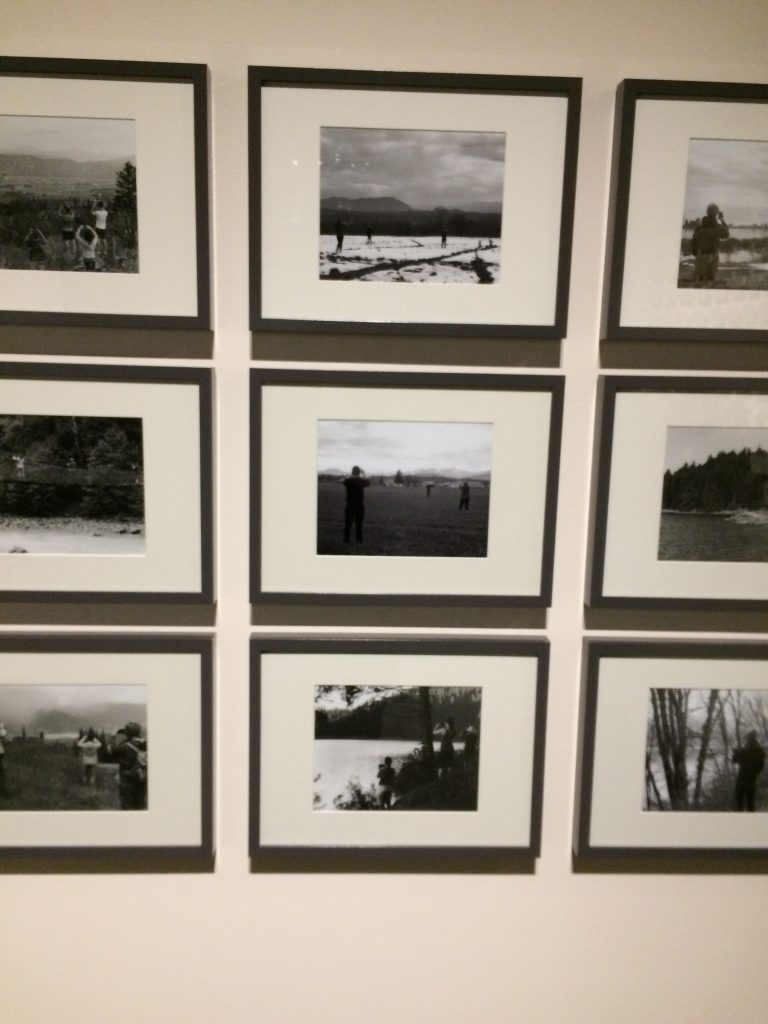 """Kendra Schellenberg's """"The Landscape of Our Times (#venividivici)"""" was inspired by her trip to Europe, where she found herself viewing the world through her phone's camera lens. She felt she missed so much of the world around her. After joining Instagram, she found that the photos on there were all the same: people sharing unique experiences of travelling through identical photos."""